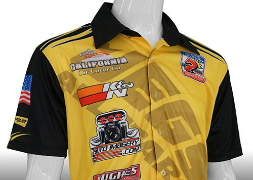 2d1b8ceb Custom Pit Crew Shirts and other Team Apparel provide Brand Awareness for  Racing Sponsors