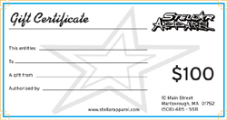 StellarApparel offers gift certificates for donations to schools and other organizations