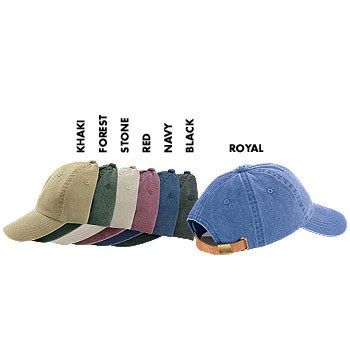 HS501 HARVARD SQUARE Six Panel Low Profile Garment Washed Pigment Dyed Twill Cap