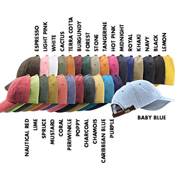 LP101 Adams Six Panel Low Profile Washed Pigment-Dyed Cap