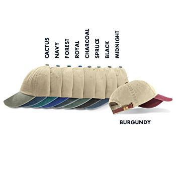 LP102 Adams Six Panel Low Profile Khaki Two-Tone Washed Pigment-Dyed Cap