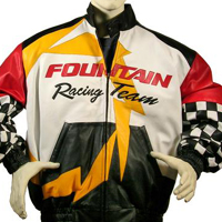 Custom Leather Racing Jackets - Embroidered & Embossed