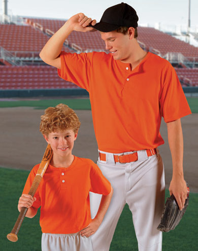 T1003 Two Button Placket Baseball Jersey