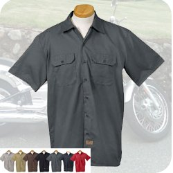 Dickies short sleeve twill workshirt 1574 for Embroidered dickies work shirts