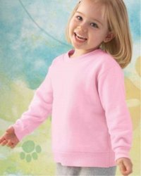 50/50 Toddler Crew Neck Sweatshirt by Rabbit Skins