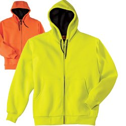 Safety yellow sweatshirts