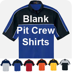 Blank Racing Pit Crew Shirts - Pit Apparel -