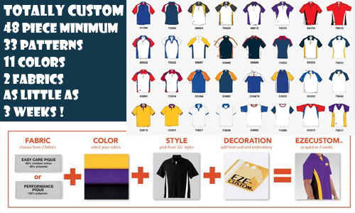 domestic made polo shirts, custom made racing shirts