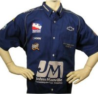 Custom embroidered racing pit crew shirts for Custom embroidered t shirts no minimum