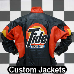 Custom Racing Jackets - Custom Leather, Twill, Varsity Jackets - Embroidered, Embossed, Inlaid